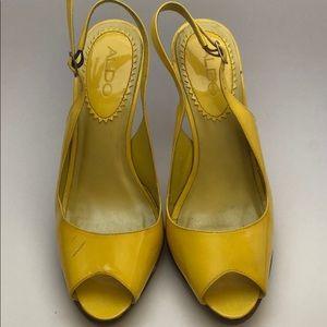 ALDO  Yellow Heels